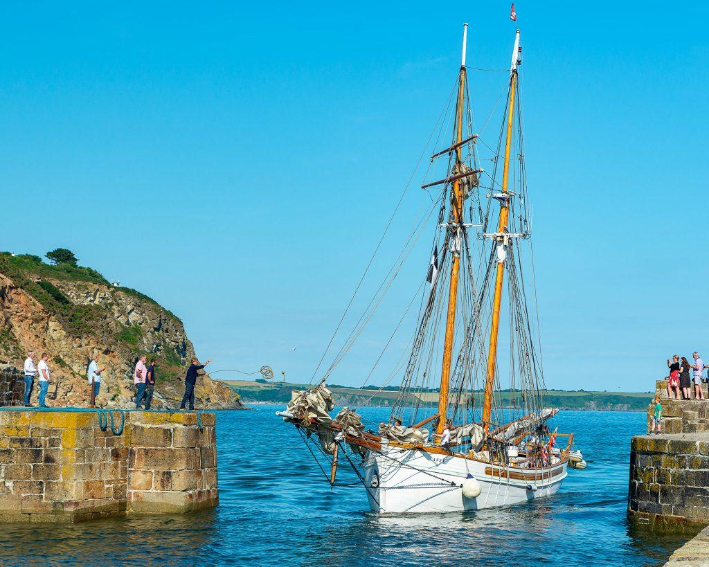 Charlestown harbour boat